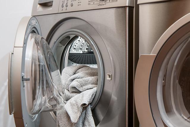ručník v pračce