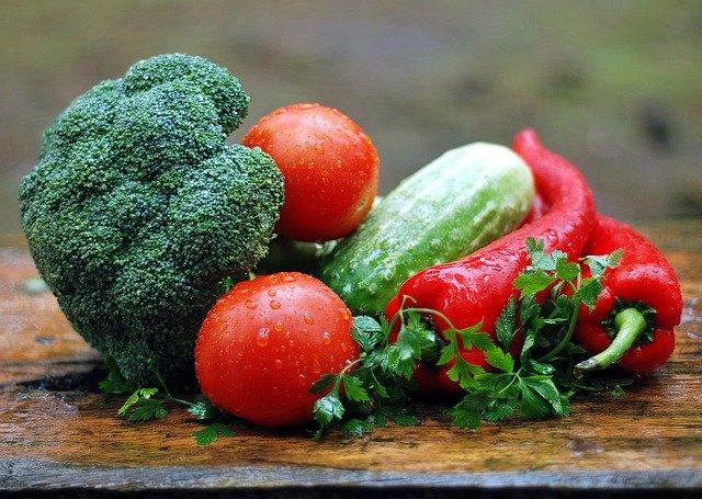 zelenina na dešti